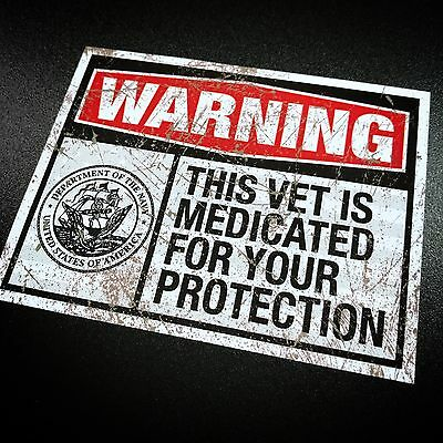 Medicated Veteran NAVY - Sticker