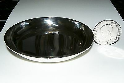 Spanish Large Taste Vin Wine Taster 916 Silver with 1889 5 peseta coin handle