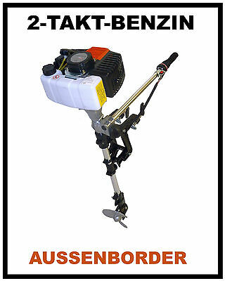 Outboard engine with 2-stroke Two-stroke Petrol motor Boat New incl. 1 Litre Oil