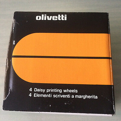 olivetti 4 pack of daisy wheels 87668S 10 Courier 189