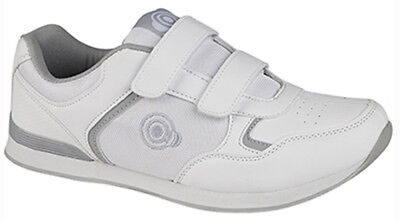 Womens DEK White Bowls Bowling Sports Velcro Shoes Trainers