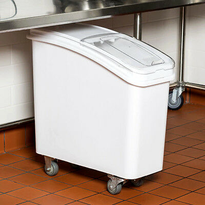 NEW 21 Gallon Dry Ingredient Storage Bin Casters Commercial Kitchen Restaurant