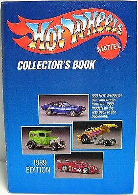 Hot Wheels Collector's Book 1989 Edition - Mattel - Color Graphics - RARE - New!