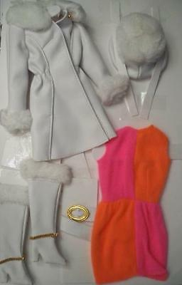 Repro Red White and Warm Barbie complete outfit!  Mod era reproduction, mint!