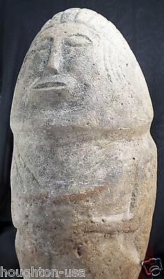 RARE Ancient Pre-Columbian Nicoya Culture 16 lb.Stone Shaman/Diety Statue/Stela