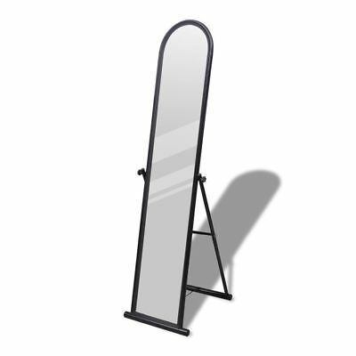 Floor Mirror Free Standing Full Length Rectangular Black Finish Cheval Dressing