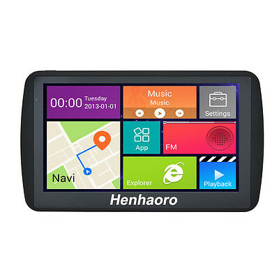 """Car GPS Navigation Android 7"""" Capacitive touch screen Navigator Quad-core sat"""