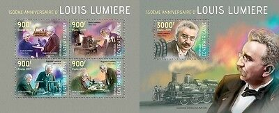 CA14122ab Central Africa 2014 Louis Lumiere MNH SET