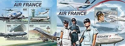 CA13222ab Central Africa 2013 Air France MNH SET