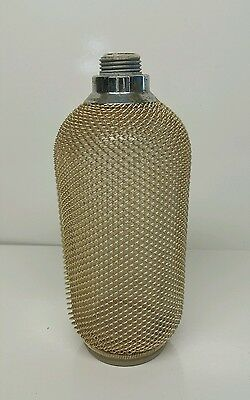Vintage Glass Chain Mesh Soda Siphon /Syphon Bottle Made in Czechoslovakia