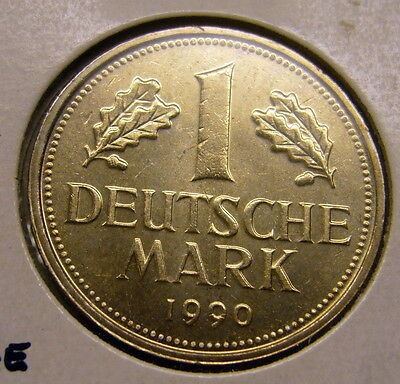 1990A GERMAN One MARK Coin