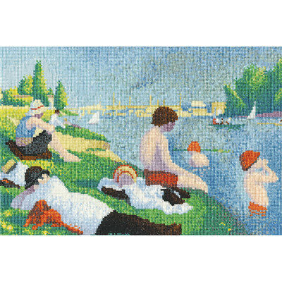 """DMC Seurat Bathers At Asinieres Counted Cross Stitch Kit-12""""X8"""" 16 Count"""