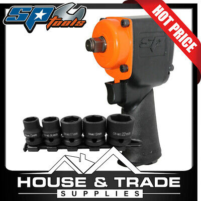 "SP Tools Impact Wrench 1/2"" Dr Plus BONUS 5 Piece Impact Socket Set SP-1141B"
