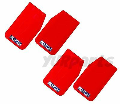 "(2 Pairs) Sparco 03791RS Universal Mud Flaps Guards (Red 11""x18.5"")"