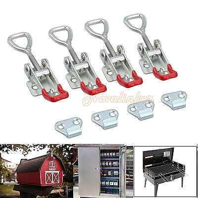 4pcs Adjustable Latch Catch Home Toolbox Case Spare Fitting Metal Toggle Size M