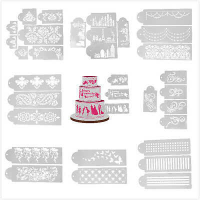 Plastic Cake Cookie Side Baking Mold Wedding Fondant Stencil Decorating DIY Tool