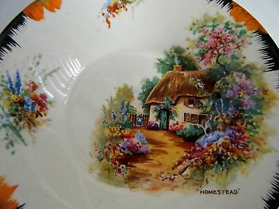 VINTAGE ART DECO Fine Porcelain Pin Dish - MADE IN ENGLAND