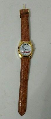 Armitron Musical Quartz Merrie Melodies Bugs Bunny Watch With Leather Band