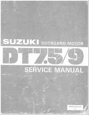 Suzuki DT7.5 DT9 2-Stroke Outboard Motor Service Repair Manual CD - DT 7.5 9