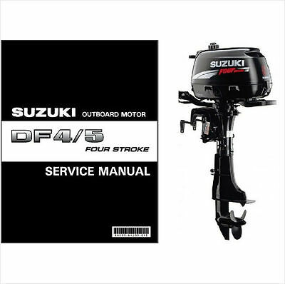 02-11 Suzuki DF4 DF5 Four Stroke Outboard Motor Service Repair Manual CD DF 4 5