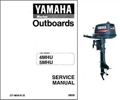 Yamaha 4AC / 4AS / 4BC / 5C / 5CS 4MHU, 5MHU Outboard Motors Service Manual CD