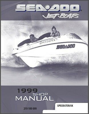 1999 Sea-Doo Speedster / Speedster SK Jet Boat Service Repair Shop Manual CD
