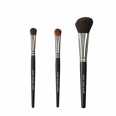 ON&OFF, Set di 3 pennelli da trucco, Chisel Pointed Fluff, Chisel (t1l)