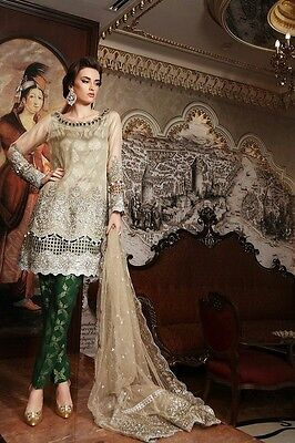 Maria B Mbroidered collection 2017 unstich designer suit
