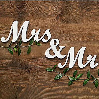 Mr and Mrs Wooden Letter Sign Freestanding Top Table Wedding Decor Centerpiece