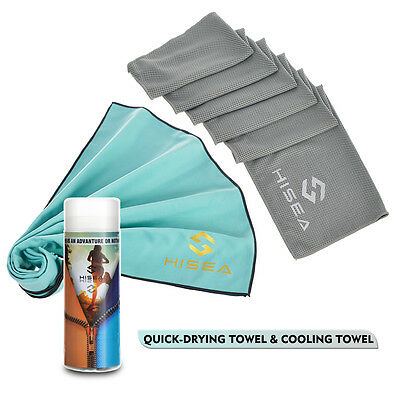 Microfiber Sport Quick Dry Cooling Towel Absorbent Compact for Gym Beach Travel