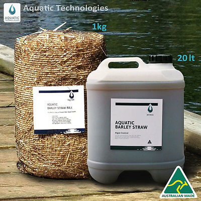 Barley Extract 20lt + Barley Straw Bale 1kg -To suppress algae growth in ponds