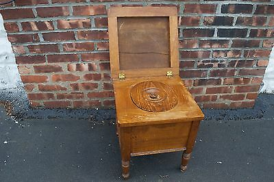 Antique Wood Commode Cushion Top