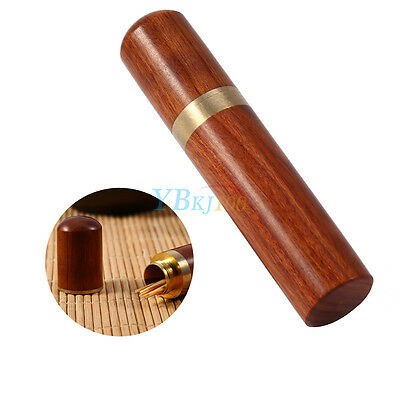 Rosewood Wooden Toothpick Holder Case Box Capsule Portable Craft Travel Home st