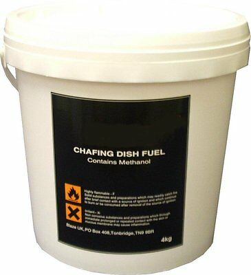 4Kg Chafing Fuel Gel Bucket Easy Heaters Refill  Bain Marie Warmer Methanol Gel
