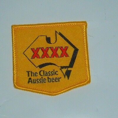 Original XXXX Aussie Beer Embroidered Patch for Shirt or collector, bar Rare