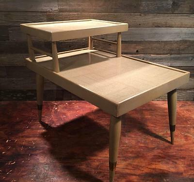 Mid Century Modern 2 Tier Vintage End Table - FREE SHIPPING