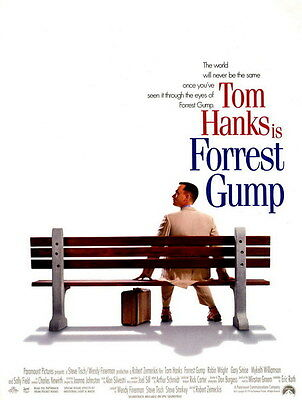 "008 FORREST GUMP - Tom Hanks Classic USA Movie 14""x18"" Poster"