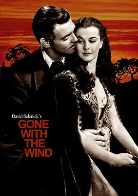 """011 Gone With The Wind - William Gable Classic USA Movie 14""""x19"""" Poster"""
