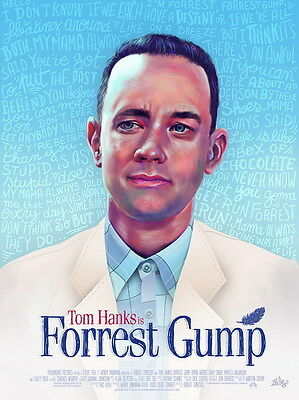 "006 FORREST GUMP - Tom Hanks Classic USA Movie 14""x18"" Poster"