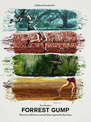 "001 FORREST GUMP - Tom Hanks Classic USA Movie 14""x18"" Poster"
