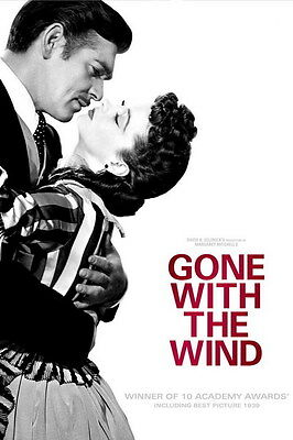 """003 Gone With The Wind - William Gable Classic USA Movie 14""""x21"""" Poster"""