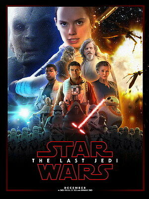 "017 Star Wars The Last Jedi - Daisy Ridley Action USA 2017 Movie 14""x18"" Poster"