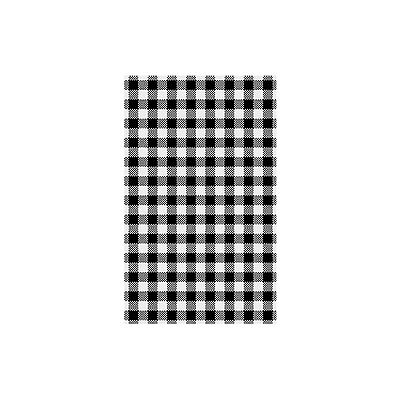 200 Sheets X Greaseproof Paper Gingham Black 200x300mm