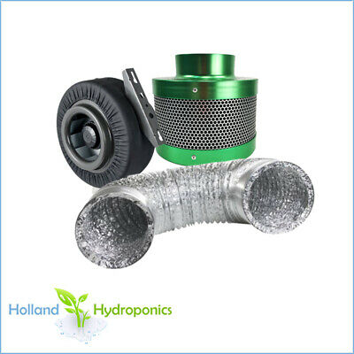 """Centrifugal Exhaust Duct Fan 4"""" Carbon Filter Ducting Ventilation Hydroponics"""