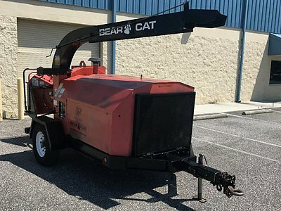 Bearcat wood chipper 86hp Kubota diesel (model 7812086) trailer mounted - only 1