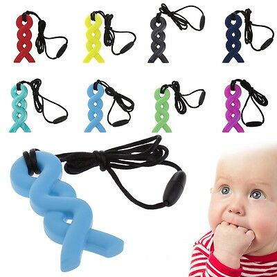 Baby Silicone Pendant Teething Necklace Chew Teether Pacifier Autism Sensory Toy