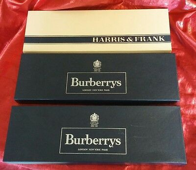 Lot of 3 Empty Vintage Tie Boxes, Two from Burberrys, One from Harris & Frank