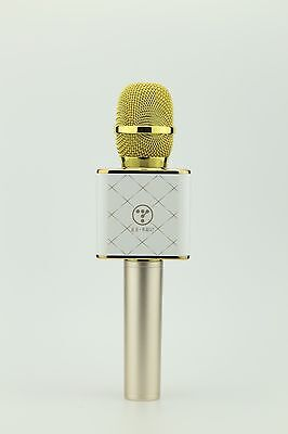 Genuine Tosing Q7 Wireless Karaoke Microphone Bluetooth Speaker KTV GOLD