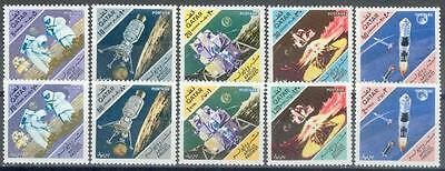 Qatar 1967 ** Mi.302/11 Weltraum Space Apollo