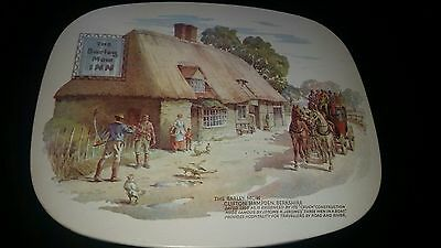 Eleven 1960's Vintage Retro Dinner Place Mats - Various Locations Of Pub Images